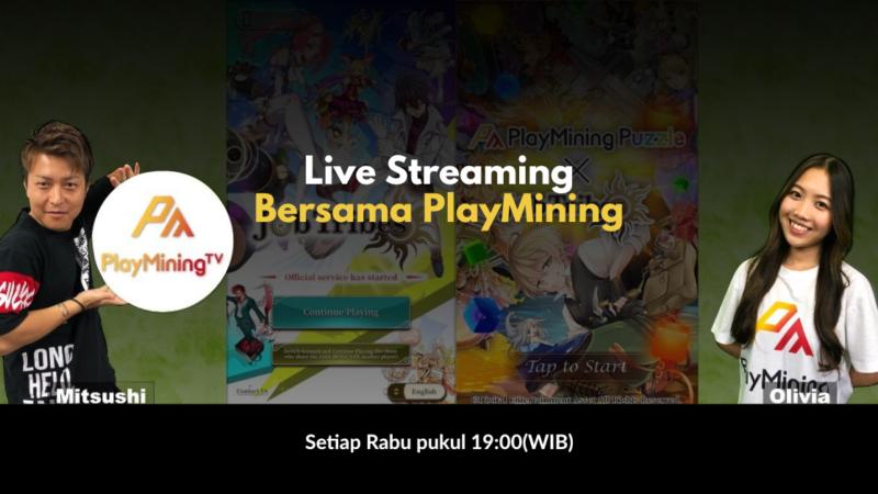 Live Streaming Bersama PlayMining, Seru lho!